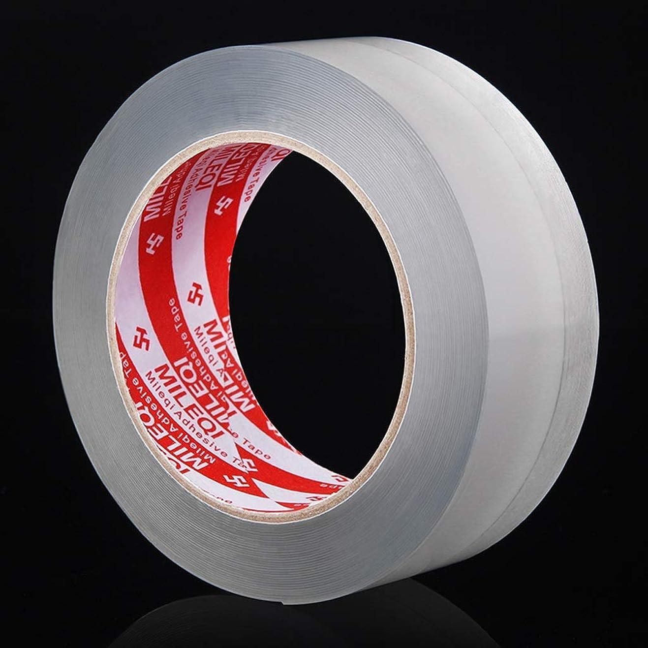ビジョン肺炎彼女自身強力な片面テープ-屋内/屋外用キッチン防カビ防水テープナノ粘着マジックテープ、防湿シンクギャップが美しいシームシールストリップを満たします(サイズ:5.0CM幅×長さ3m)D
