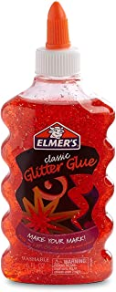 Elmer's Liquid Glitter Washable Glue Great for Making Slime, 6 Ounces - Red