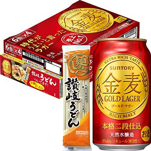 サントリー (おまけ付)(チキンラーメン2人前+れんげ) サントリー 新ジャンル 金麦〈ゴールド・ラガー〉350ml 1箱(24缶)