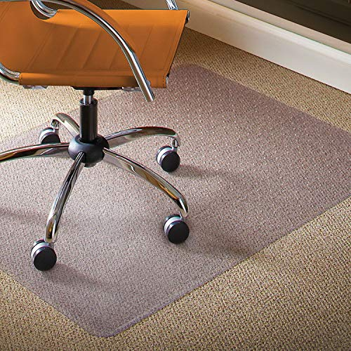 ES Robbins Natural Origin Rectangle Vinyl Chair Mat for Low Pile Carpet, 46 by 60-Inch, Clear