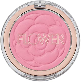 Flower Beauty Flower Pots Powder Blush - Smooth & Silky, Skin Tone Enhancing, Soft Satin Finish Makeup (Wild Rose)