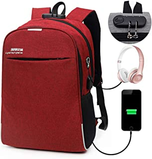 Anti Theft Backpack, Lesgos Slim Durable Laptop Bags With USB Charging Port For Business, School, Travel For Men And Women...