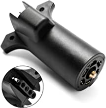 MICTUNING Heavy Duty 7 pin to 5 pin Trailer Adapter Plug Weatherproof