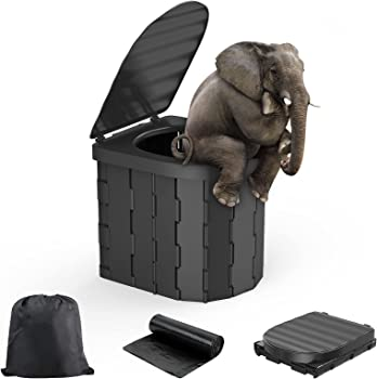 FQFMO Durable Bucket Outdoor RV Toilet