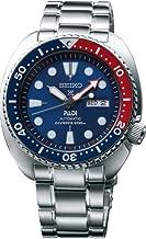 Seiko Men's Prospex Automatic Diver Silvertone Watch with Blue Bezel
