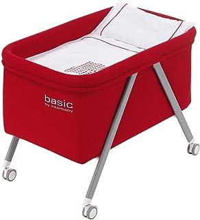 Minicuna aluminio Basic Interbaby Rojo incluye Textil exterior + Colchón + Colcha + Almohada