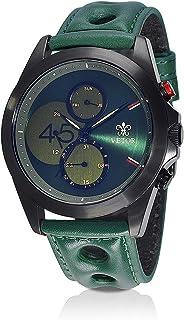 Vetor Watch for Men, Analog, Chronograph, Leather Band, Green, VT014M020808