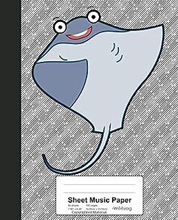 Sheet Music Paper: Dabbing Stingray Book (Weezag Sheet Music Paper Notebook)