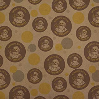GRAPHICS & MORE Saturdays are for The Comrades Communists Funny Humor Premium Kraft Gift Wrap Wrapping Paper Roll