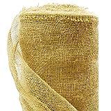 Roban Fashion jutematte Gartenjute für Pflanzen Wurzel-Schutz Jute Stoff 100 cm breit natürlicher Stoff meterware Sackleinen für Haus & Garten,100cm Breit,15m Länge