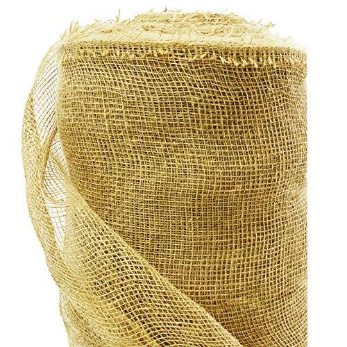 Roban Fashion jutematte Gartenjute für Pflanzen Wurzel-Schutz Jute Stoff 100 cm breit natürlicher Stoff meterware Sackleinen für Haus & Garten,100cm Breit,10m Länge