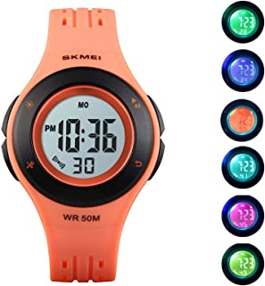 Kids Digital Sport Watch Outdoor 50M Waterproof LED Multi...