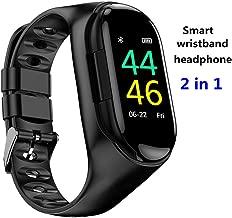 JXF 2-in-1 Sports Bracelet and Bluetooth Headphone, Smart Bracelet, Heart Rate Monitoring for Sports Data Wireless Bluetooth Earphones