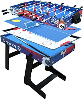 IFOYO 48 in / 4 ft Multi-Function 4 in 1 Steady Combo Game Table, Hockey Table, Soccer Foosball Table, Pool Table, Table T...