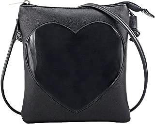 Ita Bag Heart Crossbody Bags Small Clear Phone Wallet Shoulder Purse with zipper