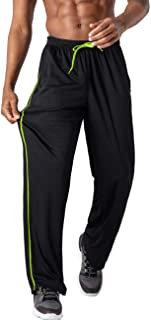 EKLENTSON Mens Mesh Pants Elastic Waist Drawstring Open Bottom Sweatpants