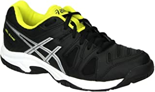ASICS Gel Game 5 GS Junior Tennis Shoe (Black/Silver/Yellow)