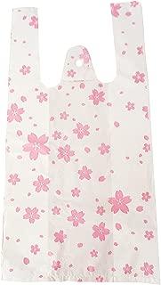 【plum forest】 さくら 柄 貰って嬉しい レジ袋 ビニール袋 100枚入り (Lサイズ)