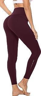 Persit Damen Sport Leggings, Blickdicht Sporthose Hohe Taille Yoga Leggings mit Innentaschen