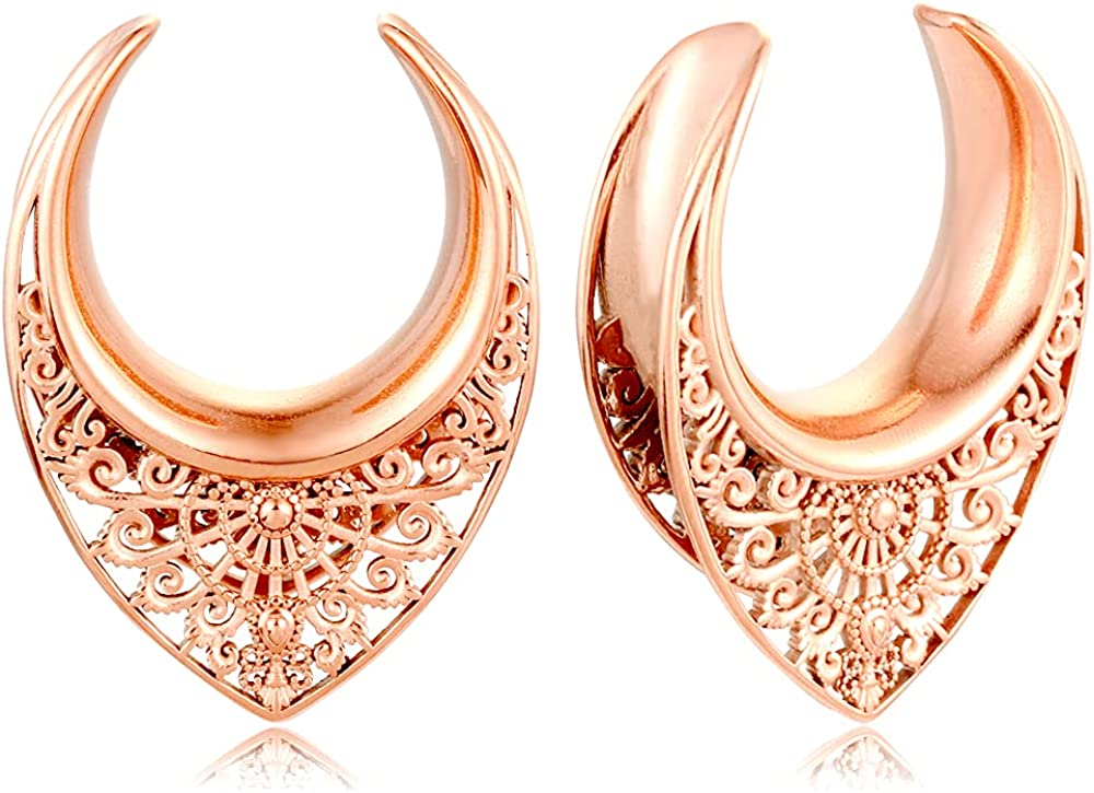 Casvort 2 PCS Saddle Tunnels Limited price sale Gauges Plugs Ear Stretc Animer and price revision Hangers