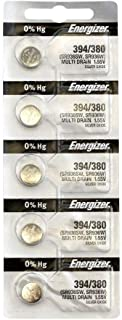Energizer 394 Button Cell Silver Oxide SR936SW Watch Battery Pack of 5 Batteries