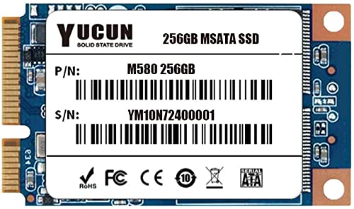 YUCUN MSATA III Disque Flash SSD 256 Go Interne Solid State Drive 256GB