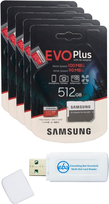 Samsung 512GB Evo Plus Our shop most popular MicroSD Card 5 1 Bundle Pack Class San Jose Mall EVO+