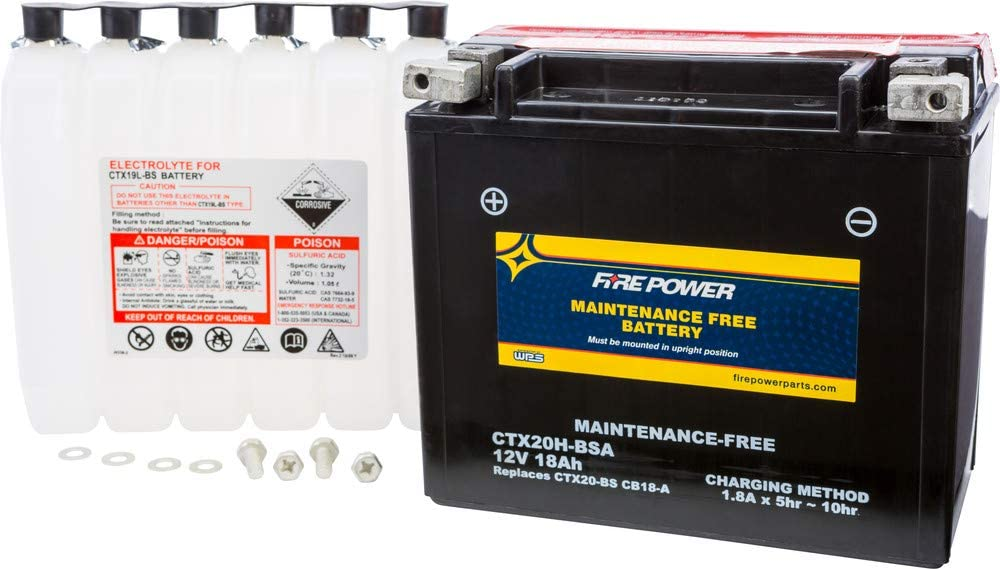 Fire Power Washington Mall Sale Special Price Maintenance Free Battery A CTX20H-BSA Compatible With