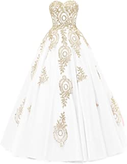 LMBRIDAL Women's Appliqued Quinceanera Dress Sweetheart Prom Ball Gown Long Long EVD21