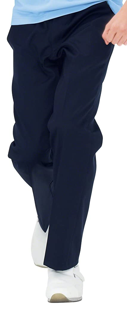 リラックスした縞模様の子豚ナガイレーベン NAGAILEBEN 男子パンツ YS-2973(M) ネイビー