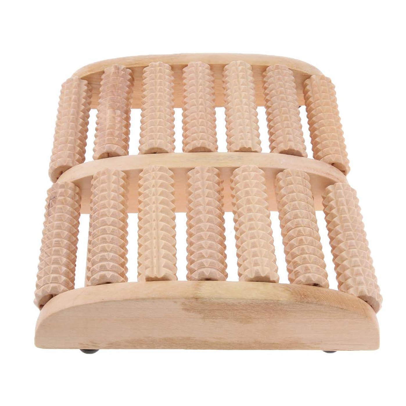 保険不毛仕様IPOTCH マッサージローラー 7行 自然木製 足踏み フットマッサージ ツボ押し 痛み緩和 健康器具 高品質