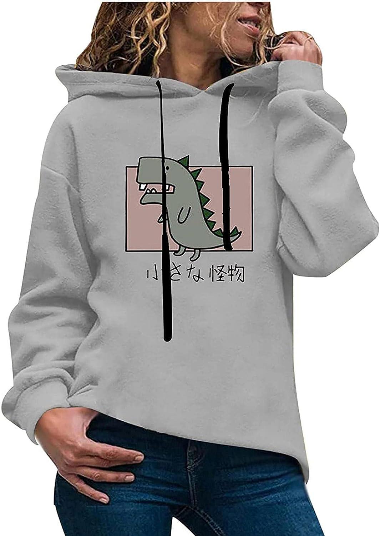 Toeava Women's Fashion Hoodies Sweatshirts Casual Long Sleeve Funny Graphic Sweatshirt Pullover Tunic Tops