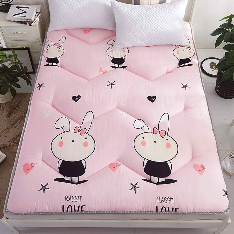 Soft Thick Futon Mattress Sleeping Pad,Ergonomics Elasticated Corner Straps Tatami Student Dormitory -E 120x200cm(47x79inch)