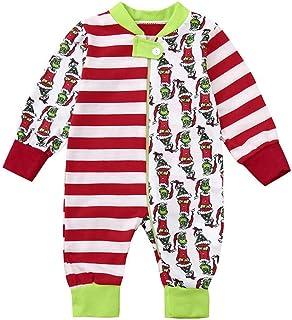 02b83336263 Srogem Baby Clothes Family Matching Christmas Stripes Autumn Winter PJs  Women Kid Dad Adult Pajamas Fun