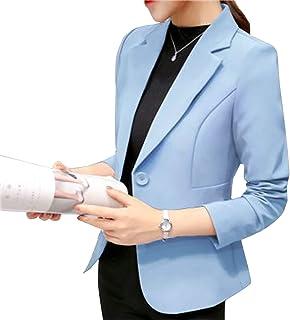 Elonglin Women's Long Sleeve Blazer Suit Jacket Lapel Collar Slim Fitted Casual Office Blazer Suit Jacket