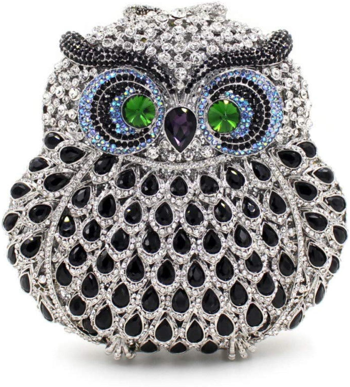 LLUFFY-Clutch Handtasche Luxus Strass Tasche Durchbrochene Metall Kristall Abendtasche Mit Diamant Tasche Damen Clutch, 17,5X12,5X5cm B07Q26P93T