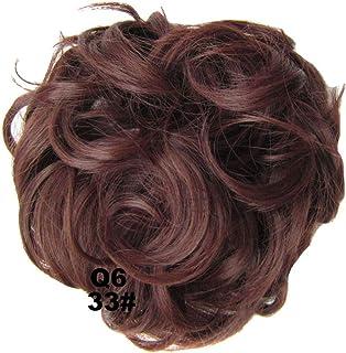 PrettyWit Extensiones de cabello Ondulado Moño desordenado Chignons Piece peluca Postizo Scrunchy Scrunchie Updo Ribbon Ponytail