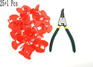 ANSTER 25 PCS Pinless Peepers with Pliers Chicken Peepers Eye Glasses Pheasant Poultry Blinders Spectacles Anti-Pecking Plier Tool by For Happy Pets