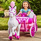 MMOYT Disney Princess Royal Horse Carriage Girls 6V Ride-On Toy Huffy