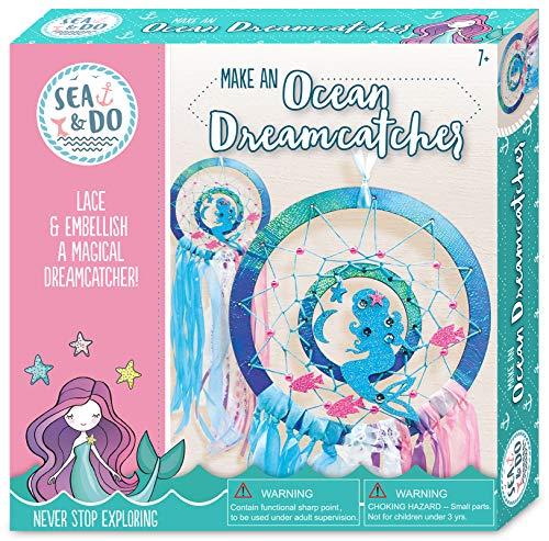 Sea & Do Bright Stripes Make an Ocean Dreamcatcher DIY Tween Craft Kit - DIY Mermaid Dream Catcher Kit for Ages 8 to 12