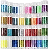 Teenitor Fine Glitter, 32 Jars 8g Each Glitter Set, 32 Assorted Color Arts and Craft glitter,...