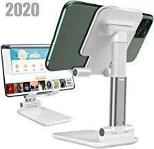 Cell Phone Stand Angle Height Adjustable Stable Portable Desktop Stand,Sturdy Aluminum Metal Phone Holder,Cradle,Dock,Aluminum Desktop Stand Compatible with All MobilePhone
