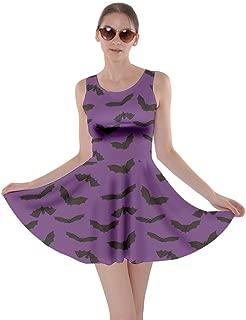 purple bat dress