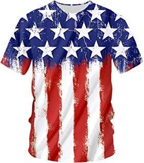 pinata Us American Flag Mens T Shirts 3D Printed Graphic Short Sleeve Summer Tops for Women