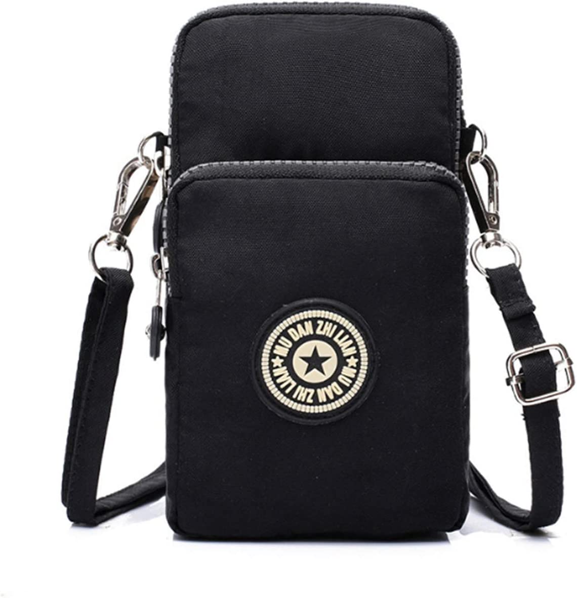 Fashion Sports Shoulder Bag Mini Wrist Purse Armband Bag Universal Phone Holder Pouch Case for iPhone/Samsung/LG/Moto/Black Berry/Sony/HTC/Nexus/Nokia/Lumia/Huawei and So on(Black-2)