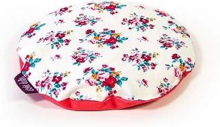 Almohada perfumada Echte dufte Almohada Infantil Rosas rellenas de Semillas de mijo orgánico y Flores de Rosa y Lavanda 15 cm Ø
