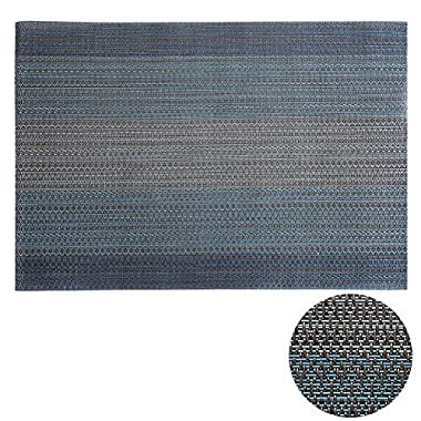 Deconovo Woven Placemats Heat Insulation Stain resistant PVC Placemats Prefect for outdoor parties,BBQs, picnic, family gatherings,placemats set of 8