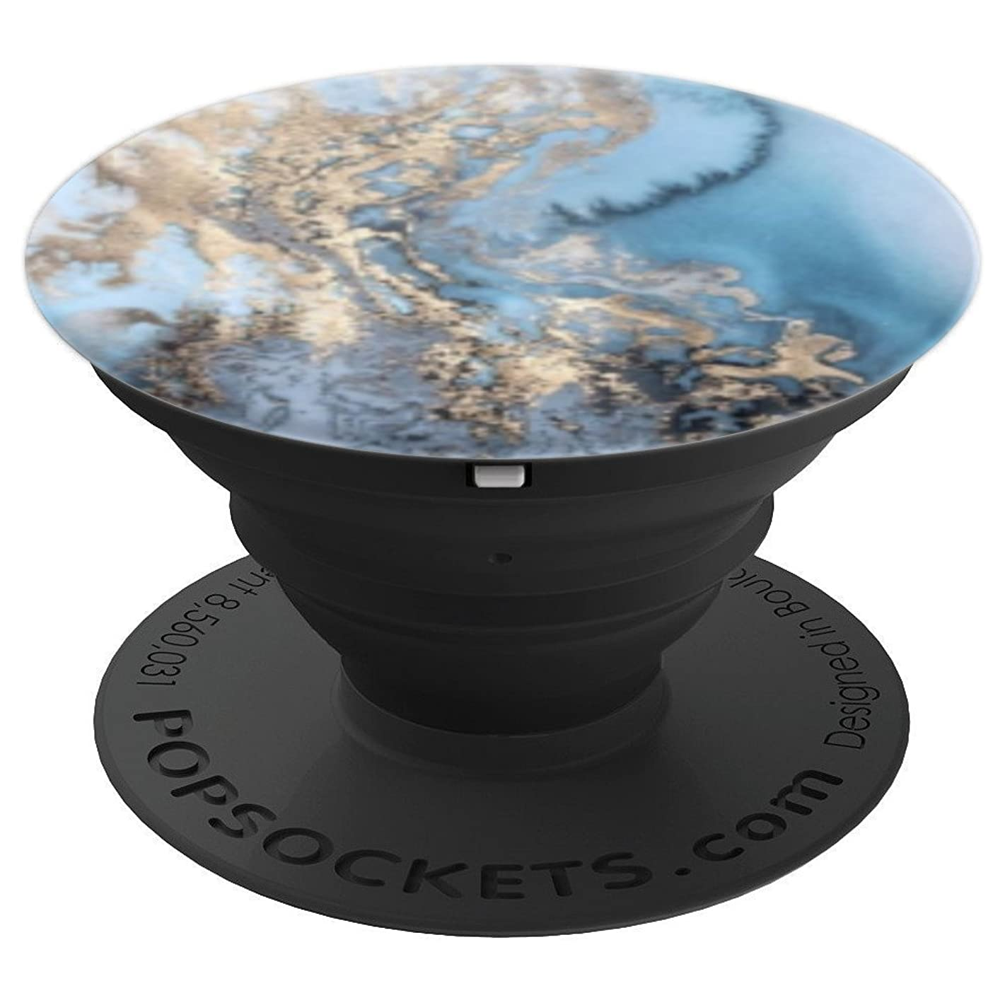 Blue Gold Marble - PopSockets Grip and Stand for Phones and Tablets