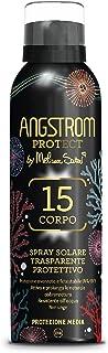 Angstrom Protect Spray Solare Trasparente, Protezione Solare Corpo 15, Spray Solare Limited Edition, Attiva e Prolunga l'A...