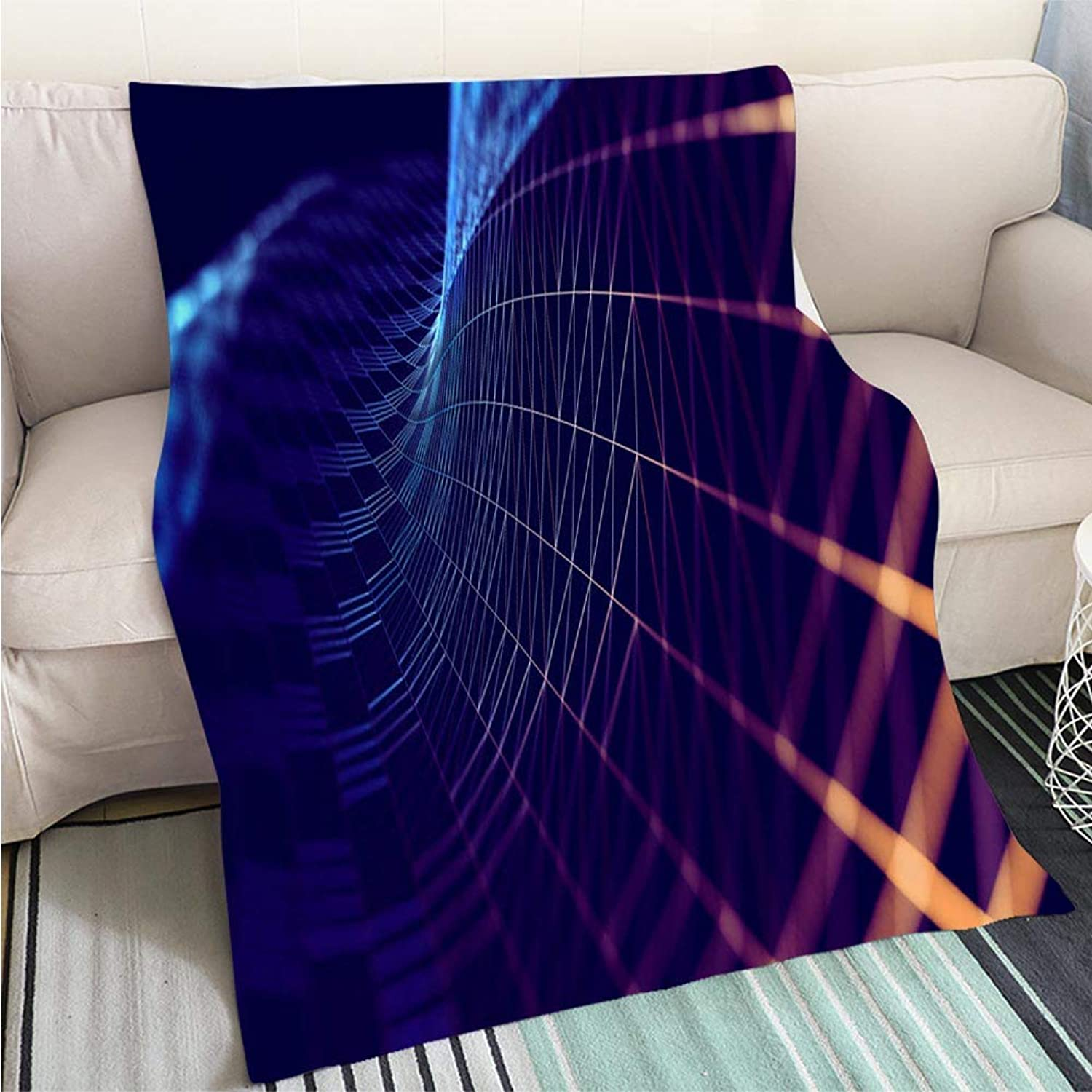 Home Digital Printing Thicken Blanket Mesh or net with Lines and Geometrics Shapes Detail 3D Illustration Perfect for Couch Sofa or Bed Cool Quilt